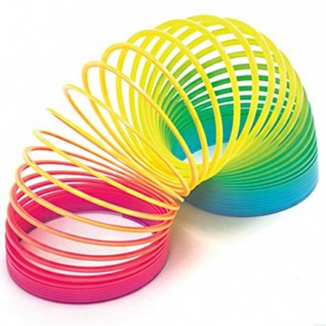 Kolorowa zabawka – tęczowa sprężynka