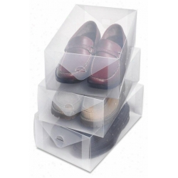 Przezroczyste pudełko na buty