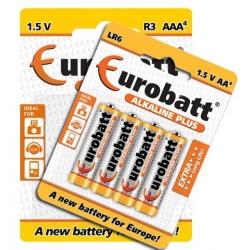 Zestaw 4 sztuk baterii paluszków AA lub AAA