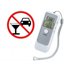 Alkomat bezustnikowy z zegarkiem i termometrem
