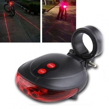 Lampka rowerowa LED z laserem bezpieczeństwa