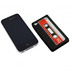 Silikonowe etui do IPHONE4 - kaseta magnetofonowa