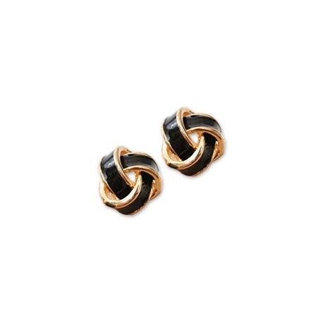 Klasyczne kolczyki czarno-złote