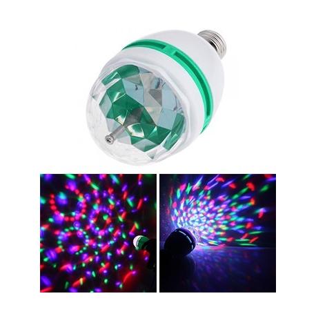 Żarówka kolorowa projektor dyskotekowy