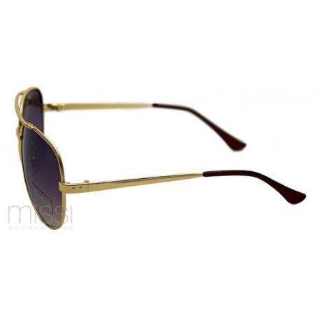 Okulary przeciwsłoneczne AVIATOR oprawki w kolorze złotym