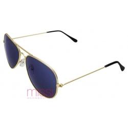 Okulary przeciwsłoneczne granatowe szkła