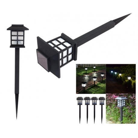 Lampa solarna LED latarnia ogrodowa