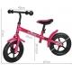 Rowerek biegowy metalowy - różowy