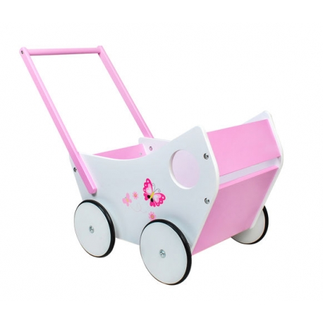 Wózek drewniany dla lalek