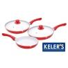 Patelnie ceramiczne Kelers 3 sztuki