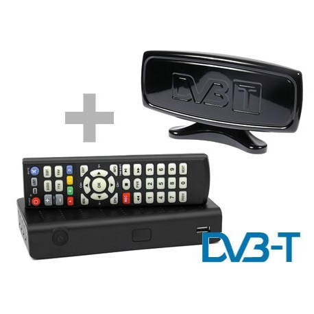 Tuner DVB-T + Antena pokojowa