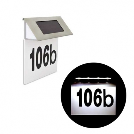 Solarny numer domu Tabliczka podświetlana