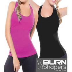 Koszulka fitness z pasem neoprenowym
