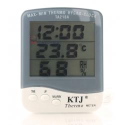 Termometr elektroniczny LCD - Stacja pogodowa z sondą