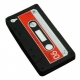 Silikonowe etui do IPHONE4 - kaseta magnetofonowa